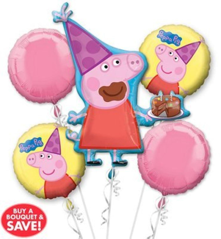Peppa Pig Balloon Bouquet 5 piece Birthday Party Supplies Balloon Decoration