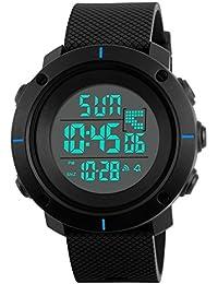 デジタル腕時計 ボーイズ 子供用腕時計 男の子 キッズ 腕時計 ストップウオッチ カウントダウン アラーム 50メートル 防水腕時計 スポーツ腕時計 大文字盤led時計 ZAYIYA