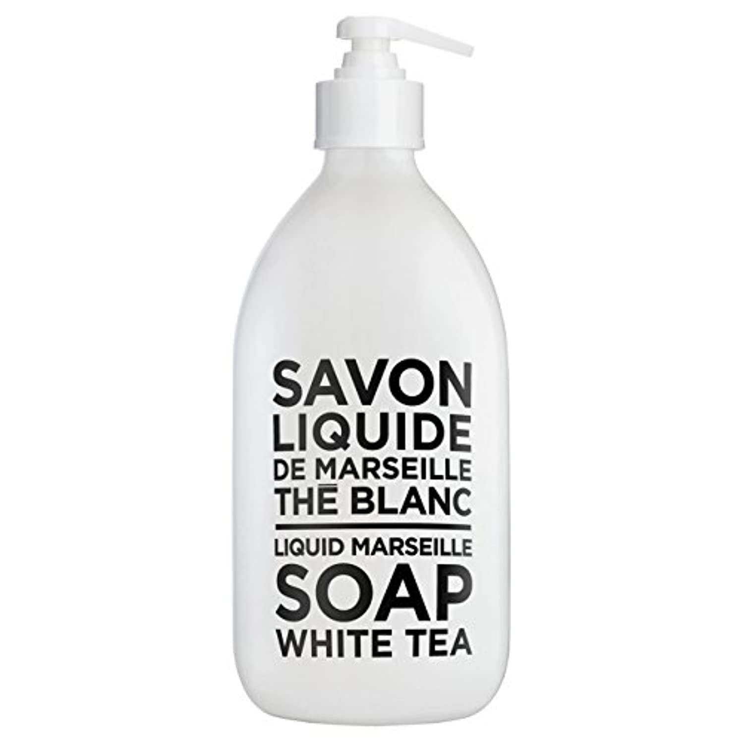 欺ダメージ法令カンパニードプロバンス ブラック&ホワイト リキッドソープ ホワイトティー(ホワイトティーにシトラスを添えた気品ある香り) 500ml