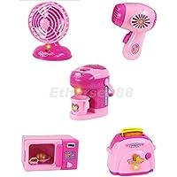 B Blesiya ピンク ドライヤー 家電 ごっこ遊び キッズ ドールハウス おもちゃ用 2枚セット