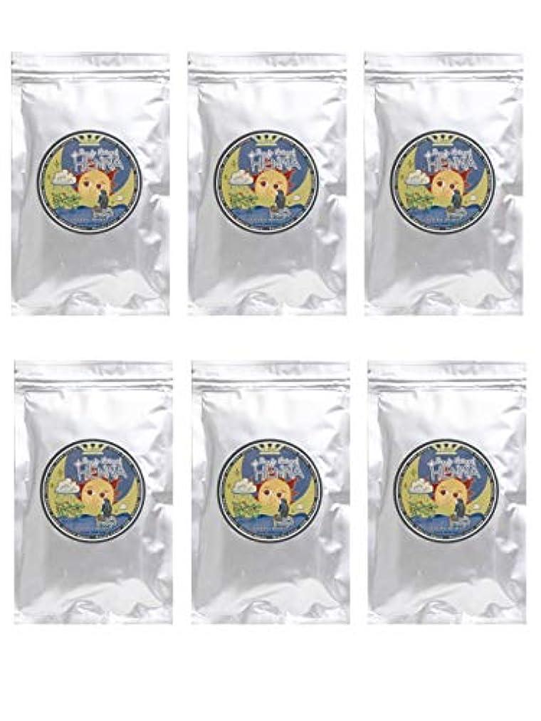 囲むウィスキー思い出すラムーンヘナ 100g×6袋セット (ナチュラルブラウン)【6袋】)