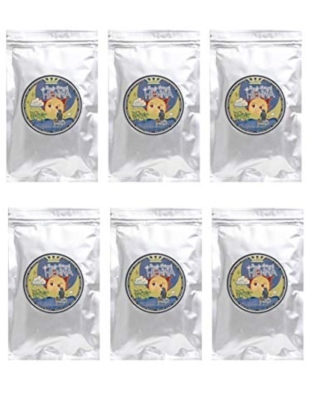プレミアムカビスキャンダラスラムーンヘナ 100g×6袋セット (ナチュラルブラウン)【6袋】)