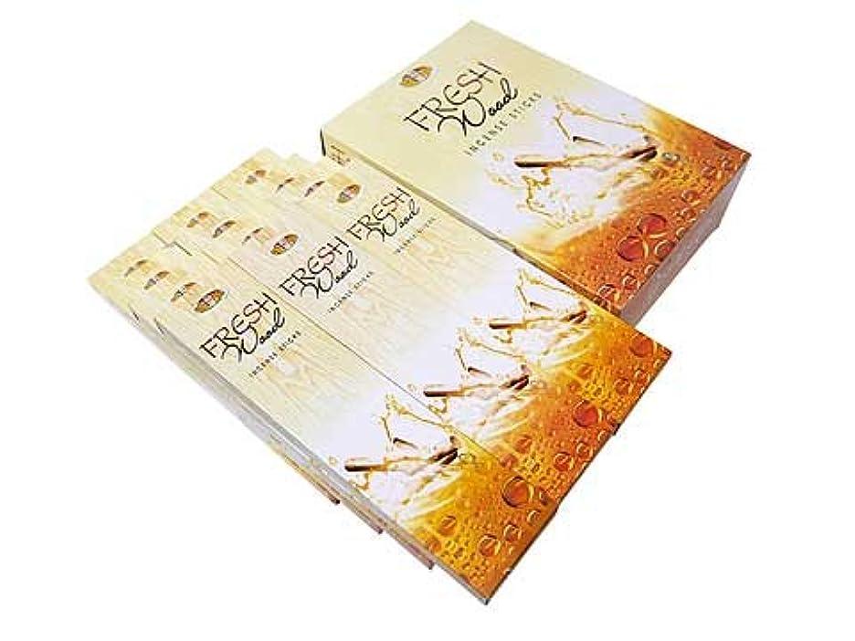 麻痺させる事実人道的FRESH FRAGRANCES(フレッシュフレグランス) フレッシュウッド香 スティック FRESH WOOD 12箱セット