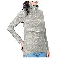 [ベルメゾン] あったか インナー 産後用 おしり すっぽり 授乳口付 タートルネック 長袖 杢グレー サイズ:L