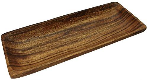 木製食器 レクタングル プレート 長方形 アカシア 約25×10×2cm