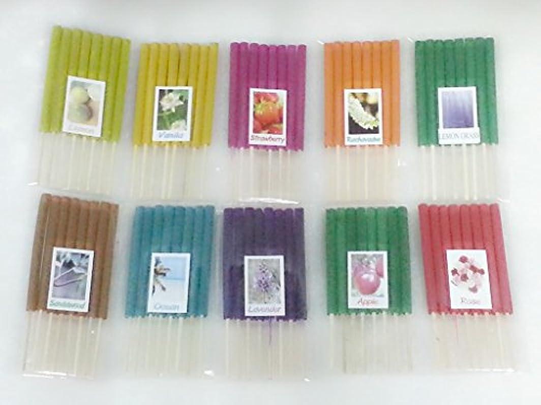 乗り出す手紙を書く醸造所セット12 Mixアロマ10 Scents 80 Sticks Mini Incense Sticks Thai Spaアロマセラピーホームのハーブ&香料、長さ3インチ