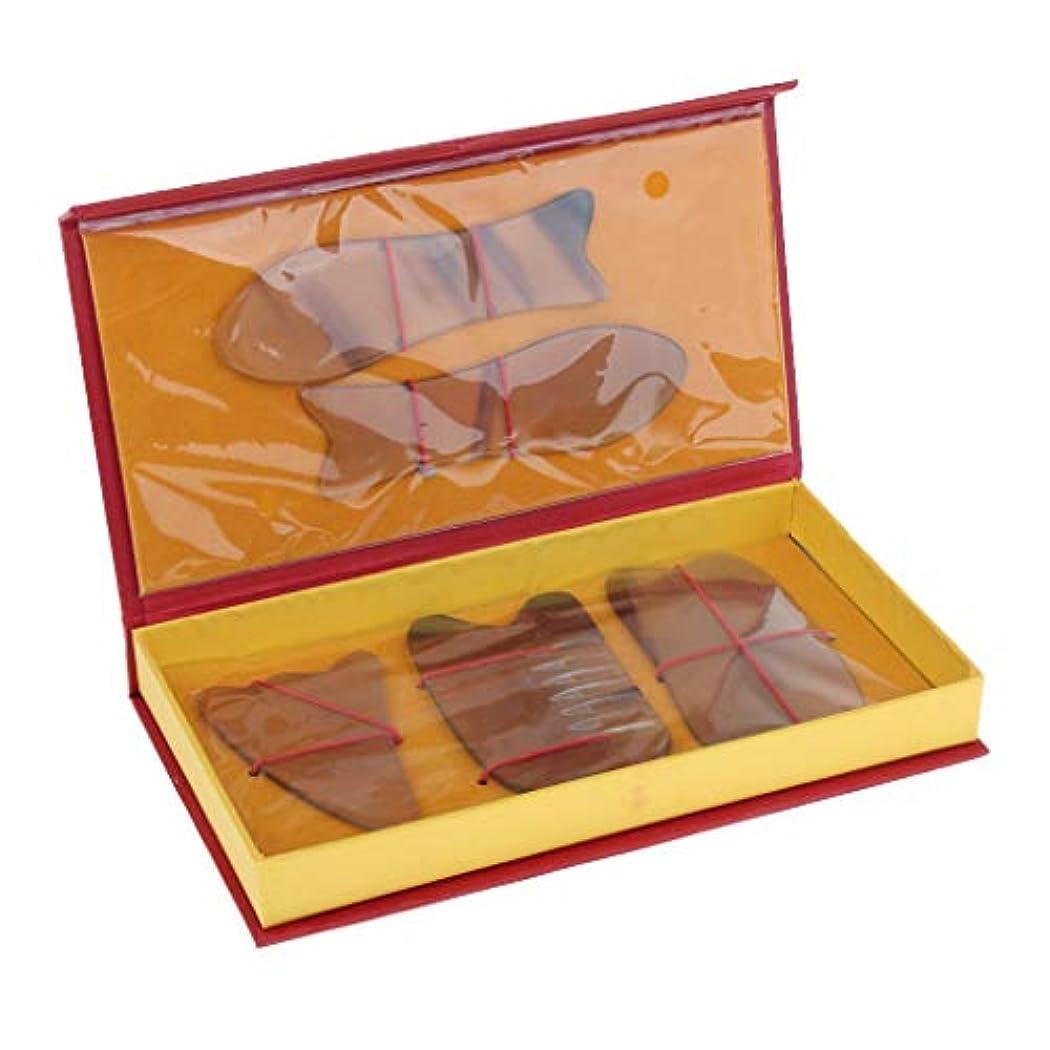 磁気カスタム解釈的5本 マッサージボード スクレーパー リラックス スパ 2色選べ - 黄