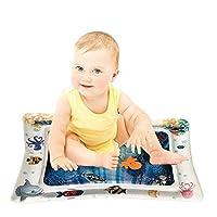 プレイマット ベビー ウォーター 新生児から対象 かわいいプレイマット 子供用 空気注入式ベビー 水遊びマット 触って遊ぶ 赤ちゃんの刺激の成長 浮き輪 知育 暑さ対策 室内&屋外用パッド ギフトにぴったりパッケージ