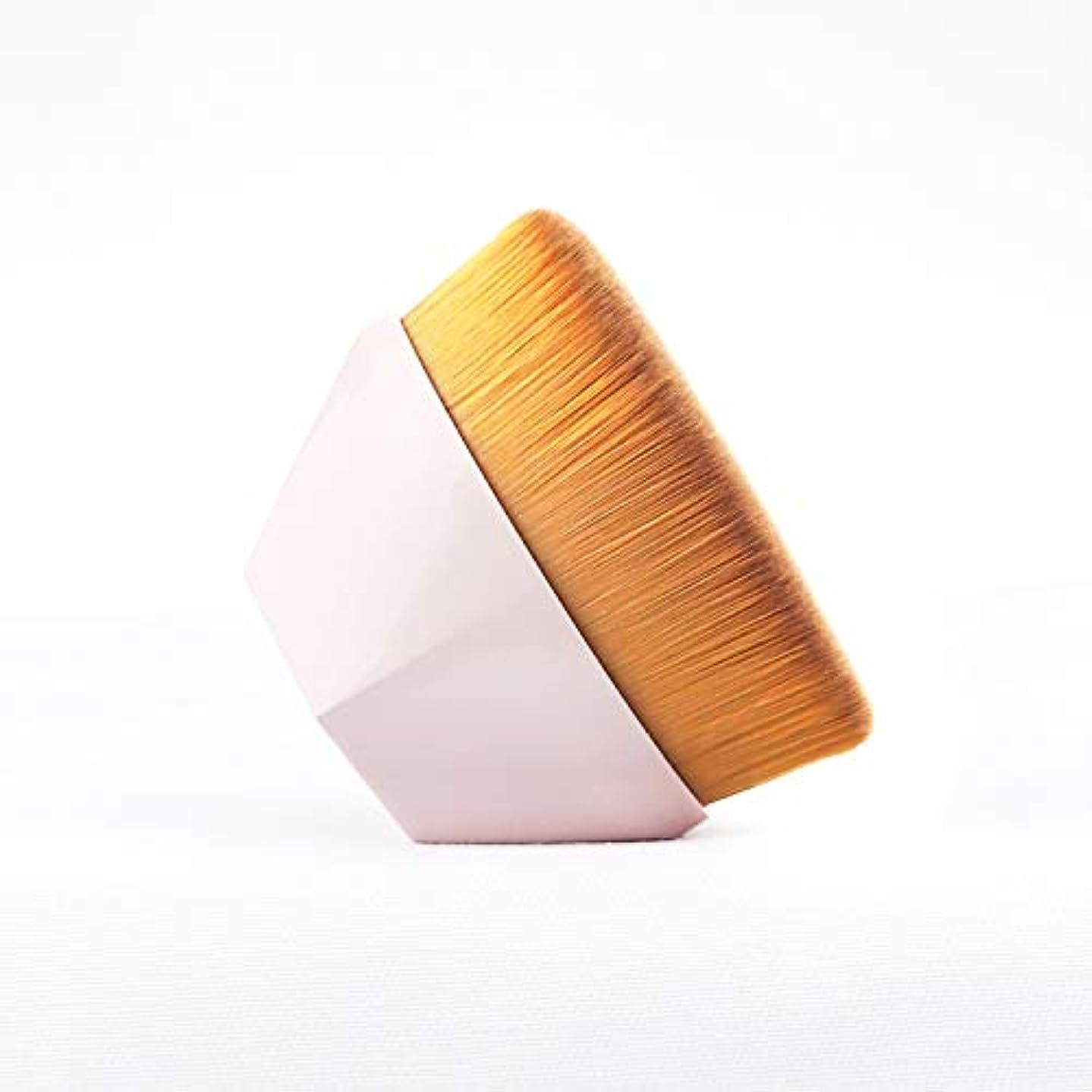 磁石適合香りファンデーション ブラシ 高密度合成毛 ベース ブラシ ピンク