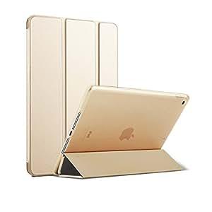 MS factory iPad Air ケース 一体型 スマート カバー 耐衝撃 ソフト フレーム オートスリープ iPadAir スタンド ケースカバー 全9色 シャンパン ゴールド 金 IPDA-S-TPU-GD