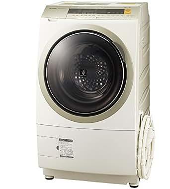 シャープ 洗濯乾燥機 ドラム式 プラズマクラスター搭載 10Kg 左開き ゴールド ES-ZP1-NL