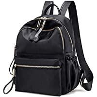 FLORICA Backpack Purse for Women Oxford Waterproof Cloth Nylon Rucksack School Bookbag Shoulder Bags Handbag for Girls Daypack Black