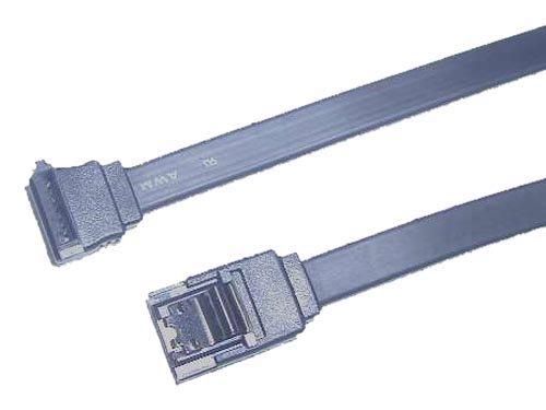 親和産業 シリアルATAフラットケーブル 長さ50cm コネクタ形状:ストレート・ラッチ付(7ピン/メス)-上L型(7ピン/メス) 6Gb完全対応 RoHS対応 SS-SAFC-SUL05LK
