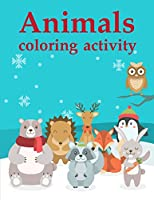 Animals coloring activity: Christmas Book ,Easy and Funny Animal Images (Books for Grown Ups)