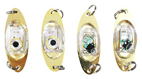 Great Barrier Leef(グレートバリアリーフ) メタルジグ 水中ライト LED 集魚灯 ルアー ジグヘッド タイプ 自動点灯 水深600m 緑のみ4個セット [並行輸入品]