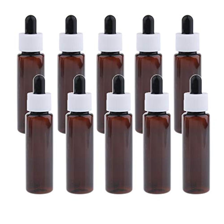 チート意味のあるフライト30ml スポイトボトル 香水瓶 詰替え容器 エッセンシャルオイル 全4色 約10個セット - アンバー