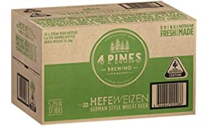 4 PINES Hefeweizen Beer Case 24 x 330mL Bottles