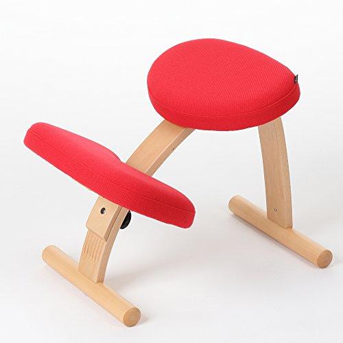 バランスチェア イージー 姿勢が良くなる椅子 学習椅子 (レッド (146BN001))