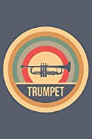 Trumpet: Retro Vintage Notebook 6 x 9 (A5) Graph Paper Squared Journal Gift for Trumpeters And Trumpet Players (108 Pages)