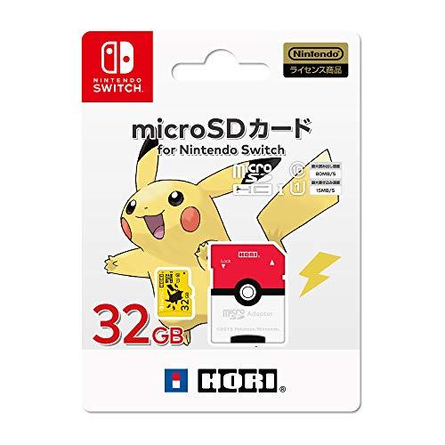 【任天堂ライセンス商品】ポケットモンスター microSDカード for Nintendo Switch 32GB ピカチュウ【Nintendo Switch対応】