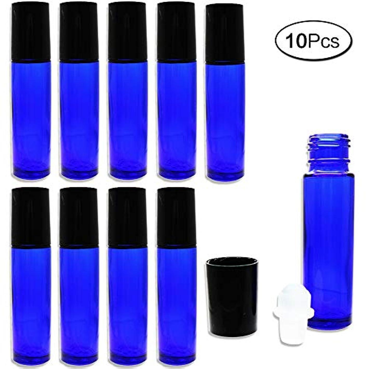 ジャンピングジャック義務付けられた保有者10ml ロールオンボトル アロマオイル ガラスロール 詰め替え 遮光瓶 10本セット