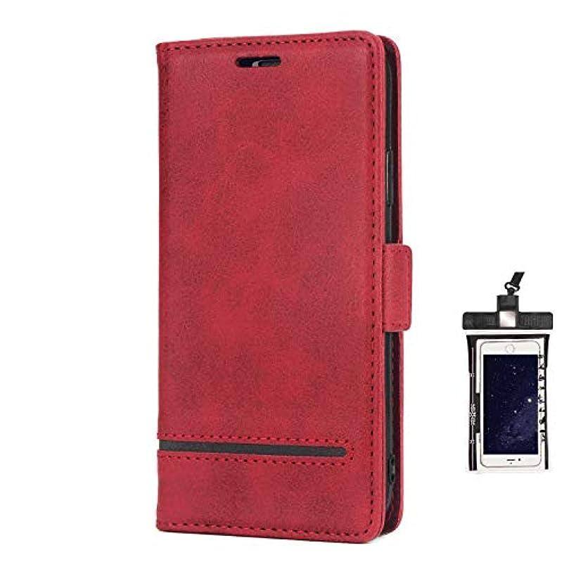 舞い上がる識字ベルト全面保護 手帳型 Huawei P30 LITE ケース 本革 レザー スマホケース スマートフォン ポーチ 財布 カバー収納 保護ケース, 無料付防水ポーチケース