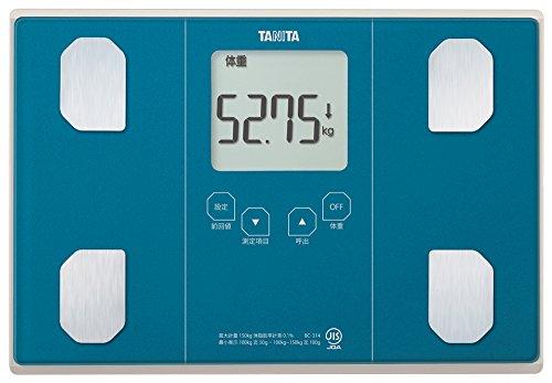 タニタ 体重 体組成計 50g ブルー BC-314 BL 乗るピタ機能で簡単測定 立てかけ収納OK