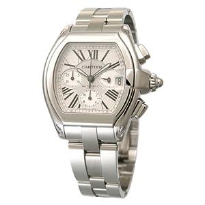 [カルティエ]CARTIER 腕時計 ロードスター シルバー クロノグラフ 替え革ベルト付き 自動巻き W62019X6 メンズ 【並行輸入品】