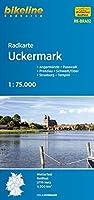 Radkarte Uckermark 1 : 75.000 (RK-BRA02): Angermuende - Pasewalk - Prenzlau - Schwedt/Oder - Strasburg - Templin, 1:75000, wetterfest/reissfest, GPS-tauglich mit UTM-Netz