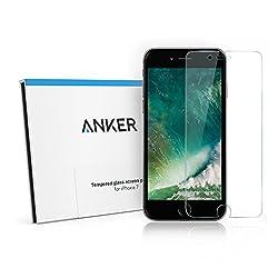 【第2世代】 Anker GlassGuard iPhone 7 4.7インチ用 強化ガラス液晶保護フィルム 【3D Touch対応   硬度9H   気泡防止】