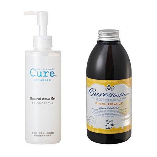 【セット品】【WEB限定】CureBathtime フレッシュオレンジの香り 500g+ナチュラルアクアジェルCure 250g