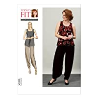 Vogue Patterns V1355 Misses' Top and Pants Sewing Template, All Sizes