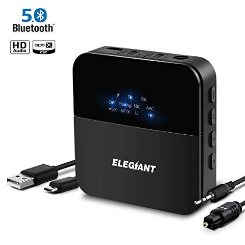 Bluetooth 5.0トランスミッター レシーバー EL...