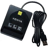 KENYA ケンヤ 接触型 USBタイプ ICカードリーダー・ライター 2018年最新版B-CAS,電子申告(e-Tax),マイナンバーカード対応 ブラック
