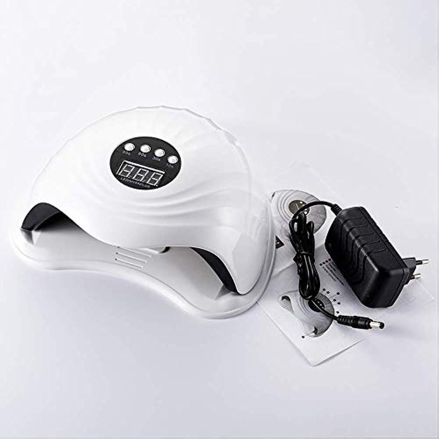 チャペル第ヘルメットRRSHUN 108w 36pcs Ledネイルランプ用ネイルドライヤーUVランプネイルマシンツール用硬化ゲルポーランド語ライトセンサータイマー付き