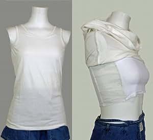 ナベシャツ 綿100% 胸つぶし & 男装 白色 (KN55 綿) XLサイズ