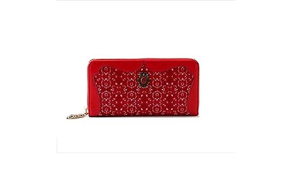 21aceebfa264 Amazon | アナスイ ANNA SUI ブルースター ラウンドファスナー 長財布 財布 (レッド) | 財布