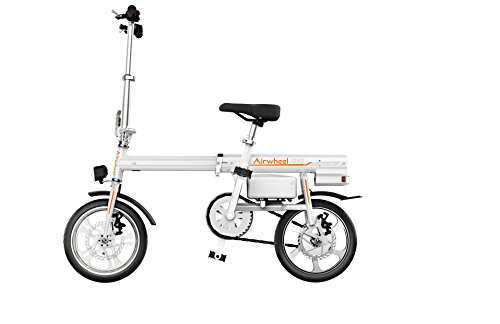 Airwheel R6 超小型 ボタン1つで自動伸縮 パナソニック製30.5v 18Ah バッテリー 電動アシスト自転車 (ホワイト)