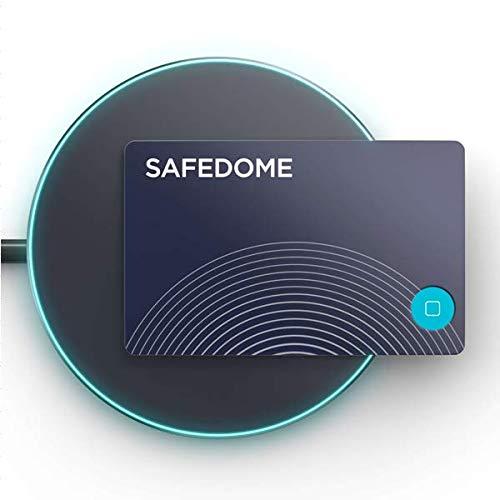 財布の紛失防止タグ 落し物防止タグ GPS 忘れ物 盗難防止 スマートトラッカー SAFEDOME ワイヤレス充電器付属 探し物発見 … (充電器付属セット)