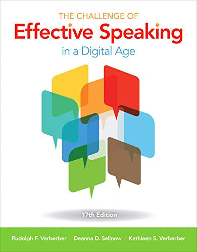 Download The Challenge of Effective Speaking in a Digital Age + Mindtap Speech, 1 Term 6 Months Access Card + Fall 2018 Activation Card 1337897191