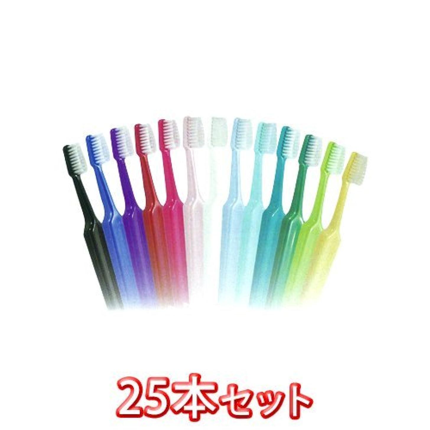 温かい国内の挨拶TePeテペセレクトコンパクト歯ブラシ 25本(コンパクトエクストラソフト)