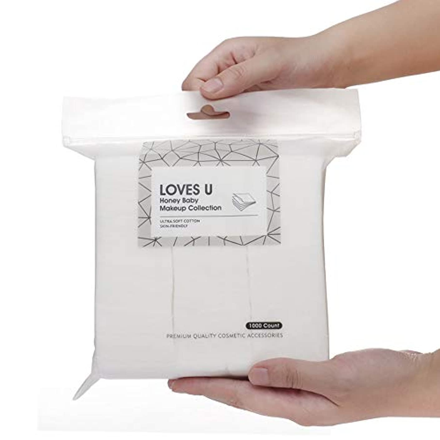 壁紙ゼロ用心する化粧品クレンジングパッド メイク落とし コットン メイクアップ パッド ソフト 綿 ホワイト