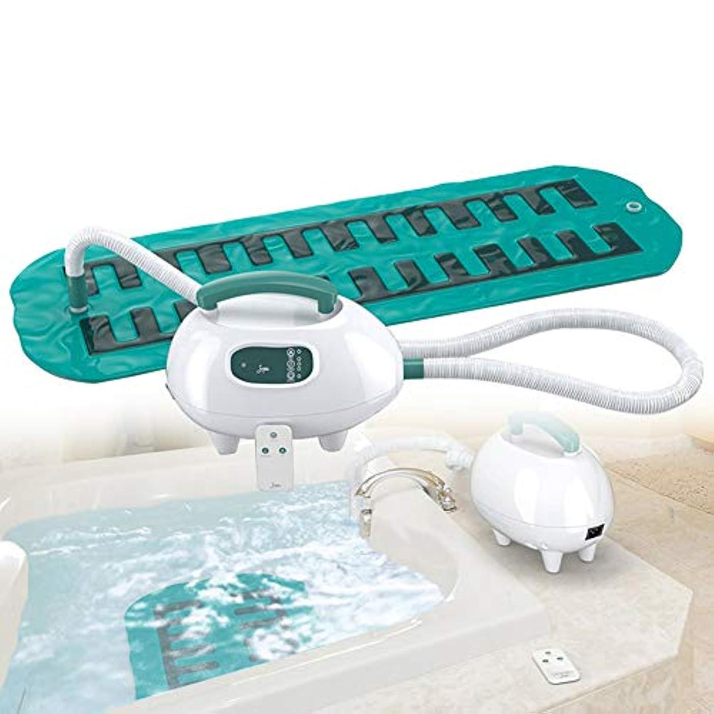 砦たくさんロゴ贅沢 スパ バブル 浴 浴槽 マッサージ師、 ポータブル スパ 空気 浴槽 防水 滑り止め マット にとって くつろぐ マッサージ 体 と 熱 強力な 3 速度 リモコン & サクションカップ 底