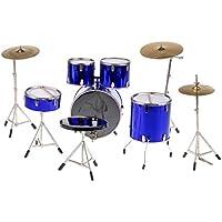 Blesiya 3色選ぶ 12インチアクションフィギュアのため 1/6スケールドラムセット 楽器模型 - 青