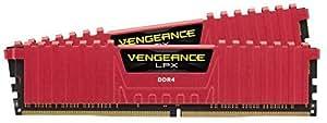 Corsair Vengeance LPX 8GB DDR4 DRAM 2133MHz C13 Memory Red Kit for Systems 8 2133 CMK8GX4M2A2133C13R Red [並行輸入品]