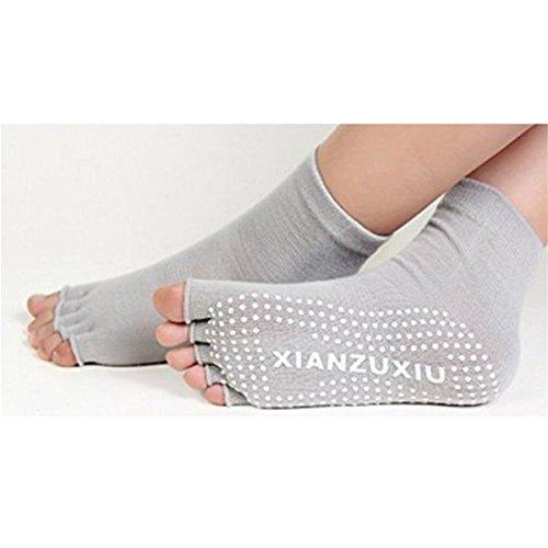 ABOZA ヨガソックス 抗菌 消臭 指なし 五本指ソックス 滑り止めつき 靴下 ヨガ・格闘技・体操・ダンス・フィットネス用