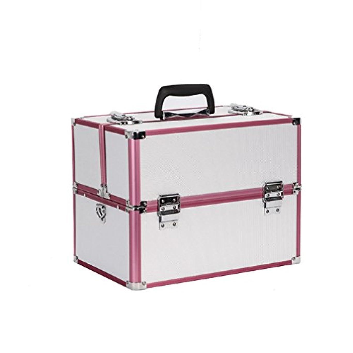 コレクションにやにや相反する{ツネユウ}プロ用 メイクボックス 高品質 多機能 大容量 メイクブラシバッグ 収納ケース ネイルボックス 化粧 取っ手付 バニティボックス 化粧道具 小物入れ ブラック ピンク