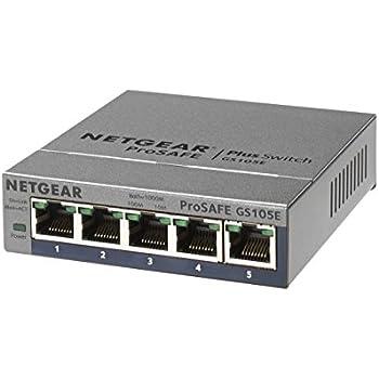 NETGEAR スイッチングハブ ギガビット 5ポート 金属シャーシ VLAN QoS IGMP 日本語GUI ファンレス静音設計 省エネ GS105E-200JPS
