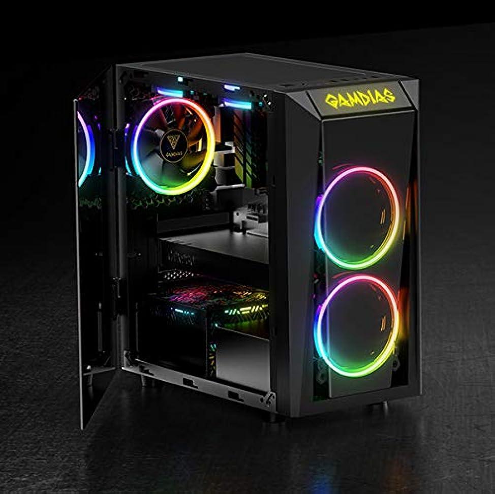寄付スポーツをするマークされたGamdias GD-TALOS E1 電源不要 ミニ-ITX タワー (ブラック)