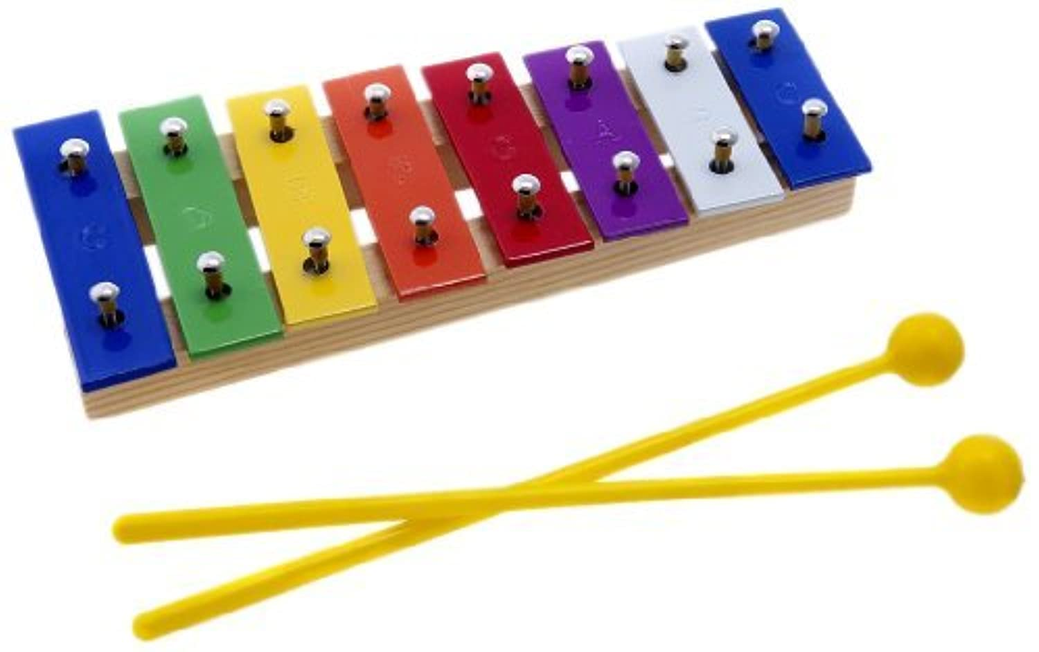 D'Luca 8 Colored Notes Children Xylophone Glockenspiels with Music Cards [並行輸入品]